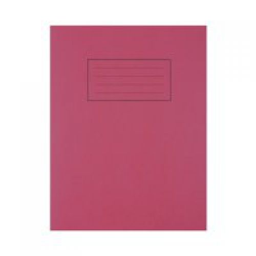 Silvine 9x7 Exercise Book Ruled Red PK10