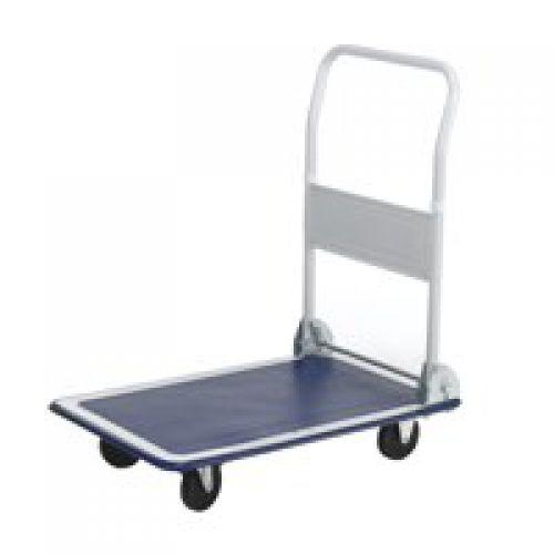 Folding Flatbed Trolleys Capacity 150Kg Open H810xW470xD730mm Folded H230mm Wheels/Castors Ø100mm