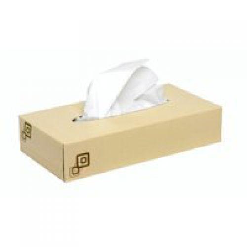 2work Facial Tissue Cream Box 100 Tissues Per Box Pack 36