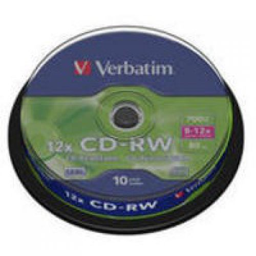 Verbatim CD-RW Datalife Plus 8-12x 700MB (Pack of 10) 43480
