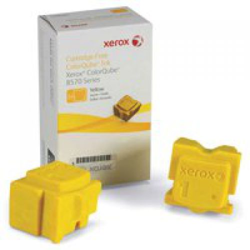 Xerox ColorQube 108R00933 (Yield: 4,400 Pages) Yellow Solid Ink Sticks Pack of 2