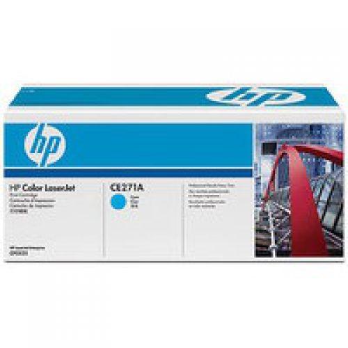 HP 650A Cyan Standard Capacity Toner Cartridge 15K pages for HP Color LaserJet Enterprise M750/CP5525 - CE271A