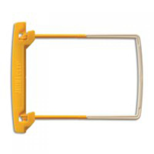 Jalema Filing Clip 50mm Capacity Yellow and White (Pack 100)