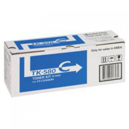 OEM Kyocera Mita FSC5150 Cyan TK580C 2800 Pages Original Toner
