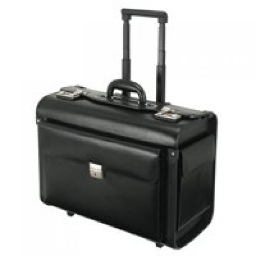 Alassio SILVANA Trolley Pilot Case Black