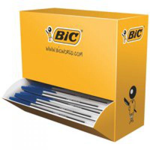 Bic Cristal Ballpoint Pen 1.0mm Tip 0.32mm Line Blue (Pack 100)