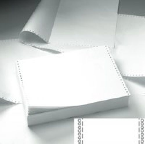 Listing Paper 3-Part NCR Micro Perf 112/3 inch x 235mm (A4) Plain White/Pink/Yellow [700]