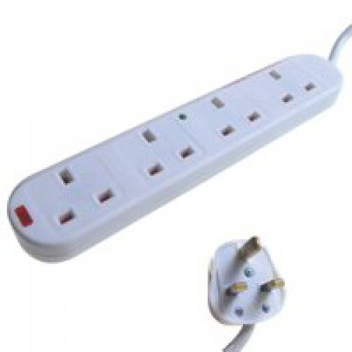 2M 4 Gang Surge Protector White