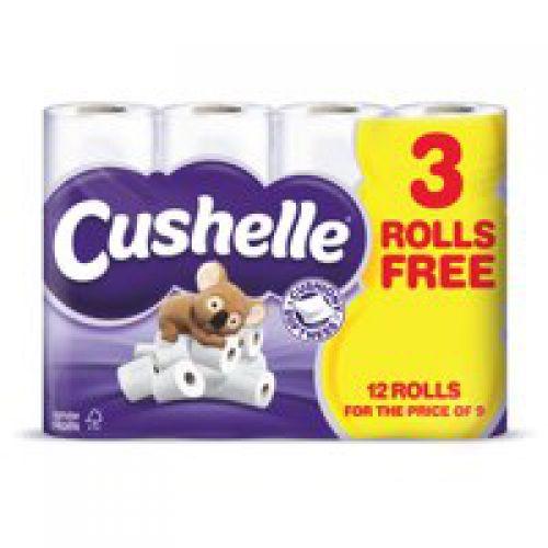 Cushelle Toilet Rolls 2-Ply White [Pack 12]