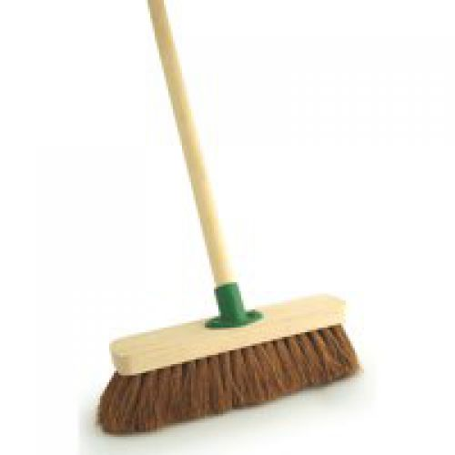 Outdoor Broom 12in Soft Brush Complete with Handle