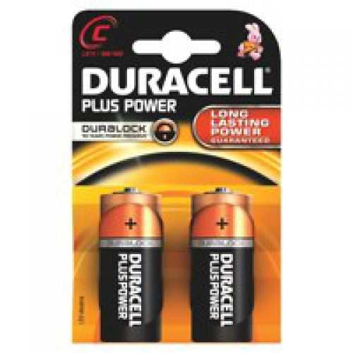 Duracell C Plus Batteries PK2