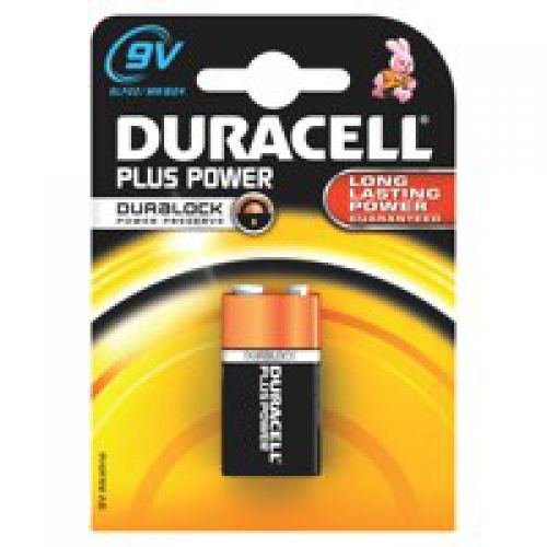 Duracell 9V Plus Batteries PK1