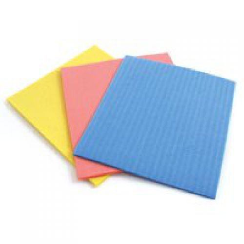 Sponge Cloths 180x180mm Assorted Colours (Pack of 18)