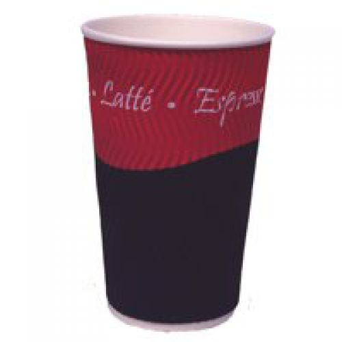 Caterpack Hot Drink Ripple Cup 12oz (Pack 25)