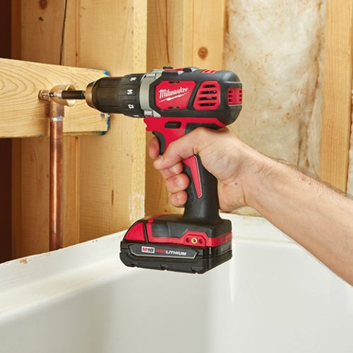 MILWAUKEE ELECTRIC TOOLS M18 Compact Drill Driver Kit, 1/2 in Chuck, 5 in lb Torque