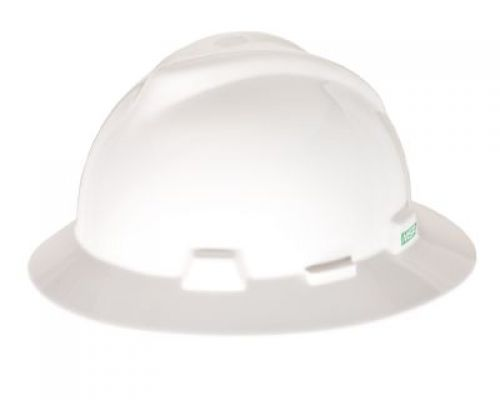 V-Gard Protective Hats, Fas-Trac Ratchet, Slotted Hat, White