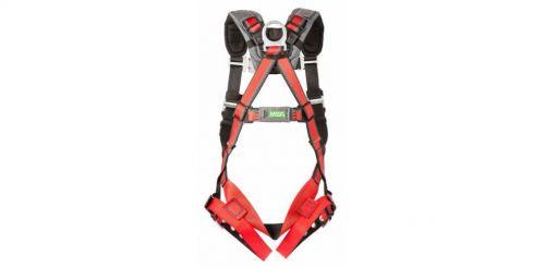 MSA EVOTECH Full Body Harnesses, D-Ring Back, Vest; Shoulder Padding, Standard