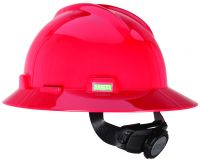 V-Gard Protective Hats, Fas-Trac Ratchet, Hat, Red