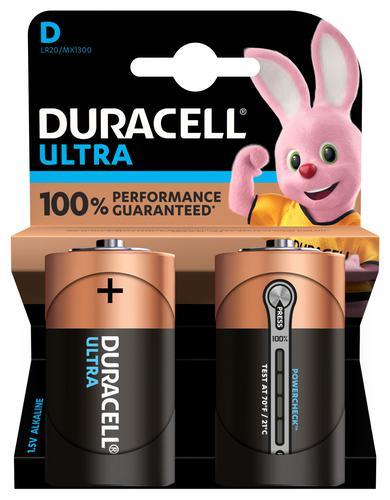 Duracell Ultra Power Alkaline Battery 1.5V D2 MX1300 [Pack 2]