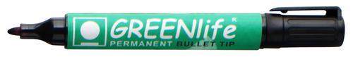 Greenlife Permanent Marker Bullet Tip Black 820501 [Box 10]