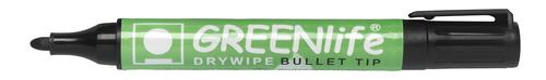 Greenlife Recycled Dry Wipe Marker Bullet Tip Black 821001 [Box 10]