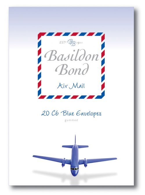 Basildon Bond Blue Airmail Envelope 114x162mm (Pack of 200) 100080079