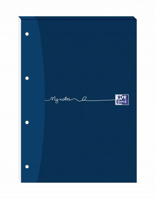 Oxford MyNotes Refill Pad Headbd 90gsm Ruled Margin Punched 4 Holes 160pp A4 Blue Ref 100080212 [Pack 5]