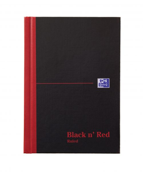 Black n Red Casebound Book A6 192pg Ruled 100080429 [Pack 5]