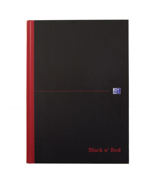 Black n Red Casebound Book A4 192pg Ruled Indexed A-Z 100080432 [Pack 5]