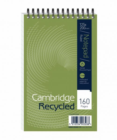 Cambridge Recycled Reporters Wirebound Notebook 160 Pages