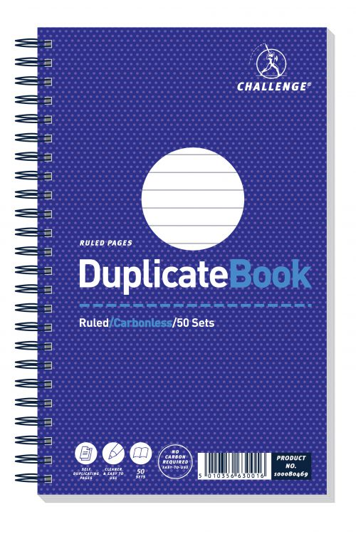 Challenge Duplicate Ruled Carbonless Book 216x130mm