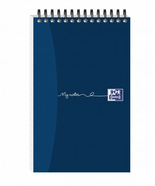 Oxford My Notes Reporters Notebook Card Cover Wirebound Ruled 160 Pages Navy Blue Pack 10  100080496