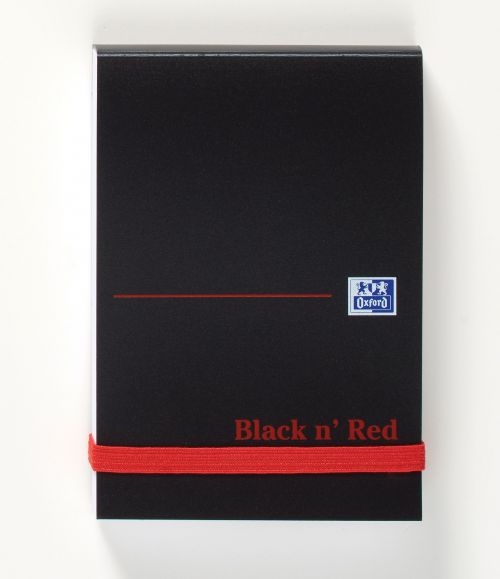 Black n Red Polynote Book Elasticated Casebound A7 105x74mm 192 pg Plain 100080540 [Pack 10]