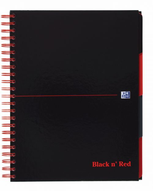 Black n Red Project Book Wirebnd 90gsm Ruled Margin Perf Punched 4 Holes 200pp A4+ Ref 100080730 [Pack 3]