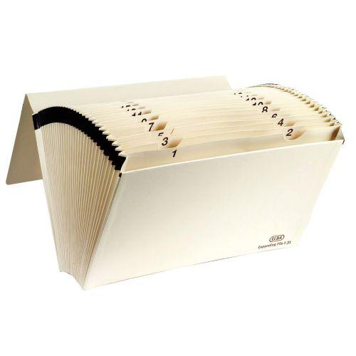 Elba 1-31 Expanding File Foolscap Buff 100080765