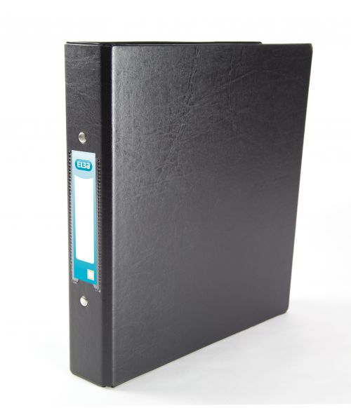 Elba Ring Binder PVC 2 O-Ring Size 25mm A5 Black Ref 100082442 [Pack 10]