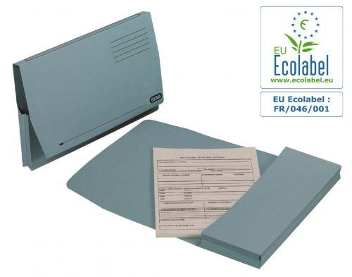 Elba Longflap Document Wallet Foolscap Blue 21513