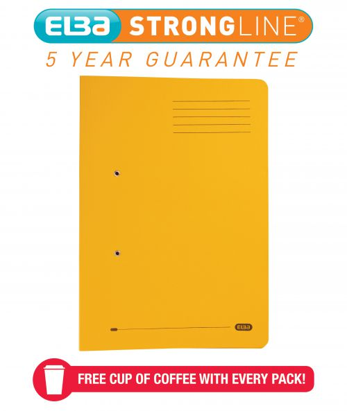 Elba Spring Pocket File 320gsm Foolscap Yellow (Pack of 25) 100090150