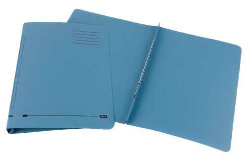 Elba Flat Bar File 20mm Capacity Foolscap Blue (Pack of 25) 100090154