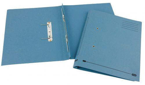 Elba Spirosort Spring File Foolscap Blue (Pack of 25) 100090159