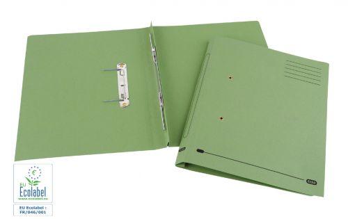 Elba Spirosort Transfer Spring File Recycled Mediumweight 285gsm Foolscap Green Ref 100090160 [Pack 25]
