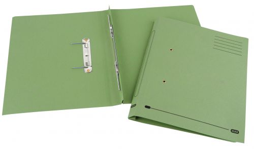 Elba Spirosort Spring Files Foolscap Green (Pack of 25) 100090160
