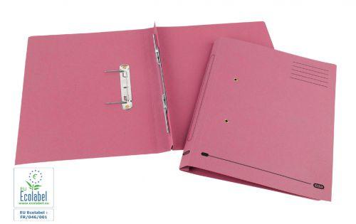 Elba Spirosort Transfer Spring File Recycled Mediumweight 285gsm Foolscap Pink Ref 100090162 [Pack 25]