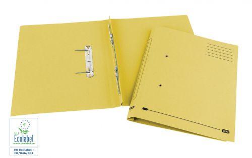 Elba Spirosort Transfer Spring File Recycled Mediumweight 285gsm Foolscap Yellow Ref 100090163 [Pack 25]