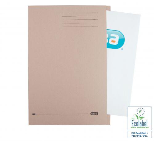 Elba Foolscap Square Cut Folder Recycled Mediumweight 285gsm Manilla Buff Ref 100090216 [Pack 100]