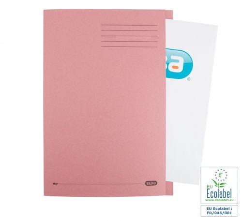 Elba Foolscap Square Cut Folder Recycled Mediumweigh 285gsm Manilla Pink Ref 100090221 [Pack 100]