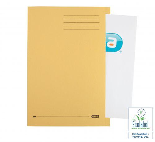 Elba Foolscap Square Cut Folder Recycled Mediumweight 285gsm Manilla Yellow Ref 100090223 [Pack 100]
