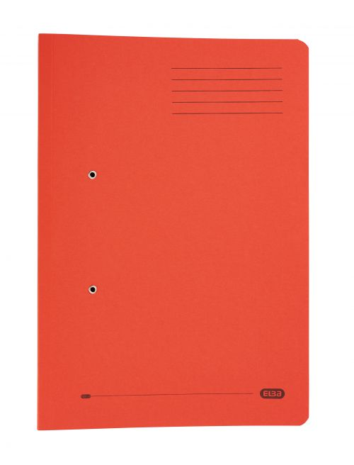 Elba Strongline Spring Pocket File Foolscap Red (Pack of 25) 100090278