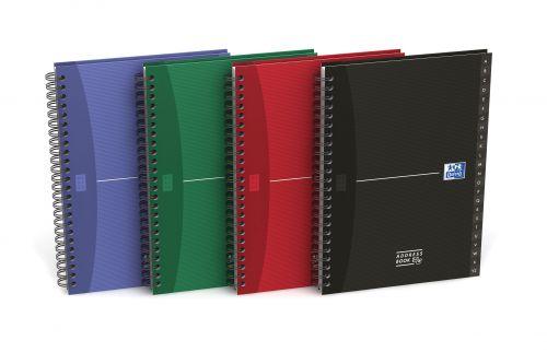 Oxford Office Address Book Wirebound Hardback 144pp 90gsm A5 Assorted Ref 100101258