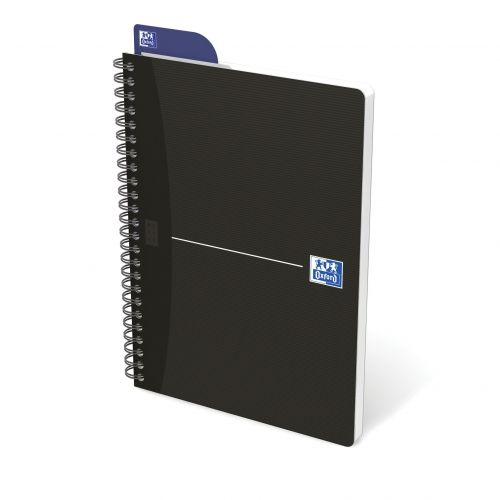 Oxford Essentials Notebook A5 Soft Card Wirebound 180 Pages SCRIBZEE Compatible Black Pack 5 100103627
